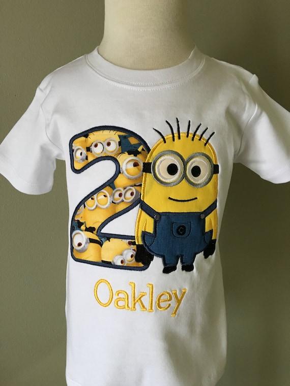 Personalized Minion Birthday T-Shirt