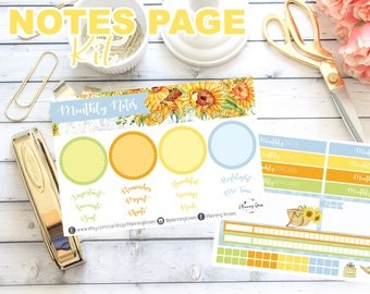 Little Miss Sunshine Collection Notes Page Kit