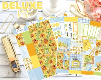 DELUXE Little Miss Sunshine Collection Weekly Kit    130+ Planner Stickers    Erin Condren Life Planner (Vertical Layout)