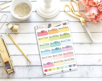 Dinner Out Stickers || 26 Planner Stickers