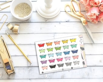 Bath Time Stickers    25 Planner Stickers