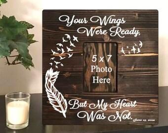 Memorial frame - bereavement gift - sympathy gift - wedding memorial frame - in memory of - memorial picture frame- heaven