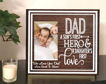 Dad Picture Frame Dad Photo Frame Dad Birthday Gift Dad Etsy