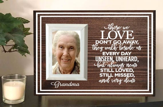 Grandma Memorial Picture Frame Memorial Frame Mother Etsy