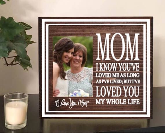 Mom Daughter Frame Mommy And Me Mom Daughter Gift Mom Etsy