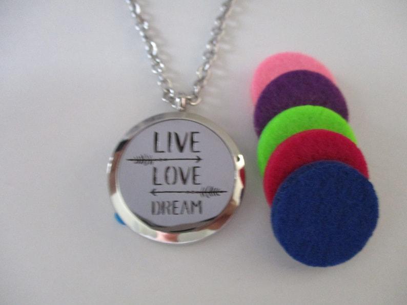Live Love Dream Aromatherapy Locket