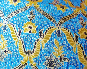 Fat quarter gold gilding 50 x 40 cm - fabric cotton blue-green - blue fabric - cotton fabric