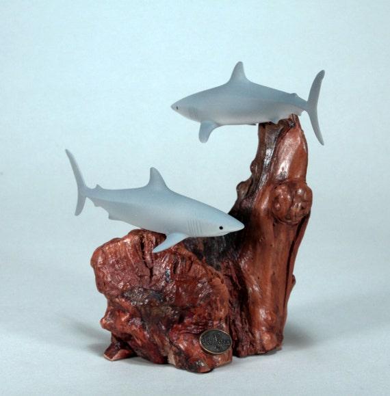 MARINE LIFE SCULPTURE by JOHN PERRY Hammerhead Shark