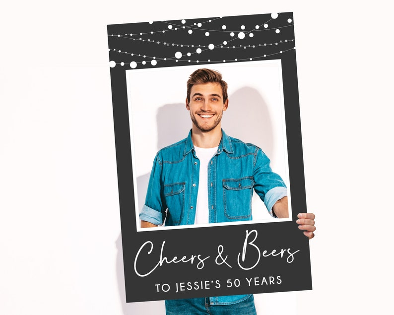 Printed and Shipped Cheers to 40 Cheers and Beers Photo Booth. 60 50 70 Years Photo Booth
