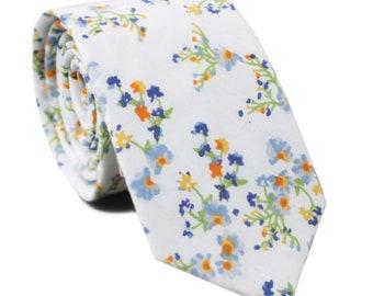 "ANNIE Floral Skinny Tie 2.36""| floral tie | flower tie | skinny tie | wedding tie | wedding ideas | groom |  Solid color green hunter"