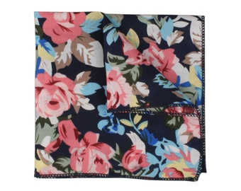 STELLA Floral Pocket Square | wedding | events | prom | gifts | for him
