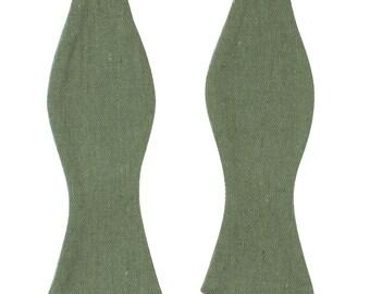 SAGE - Green Self Tie Bow Tie| Flower |Bow Tie | Bowtie | Wedding | Groom | Gift | Ideas | for him green hunter |