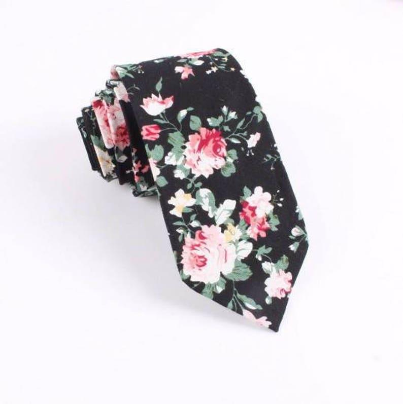 DAN Skinny Floral Tie 2.36 floral tie  flower tie  image 0