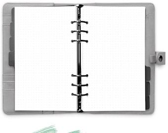 60 x Dotted Paper Dot Grid List Personal Filofax 2035-PE-LI
