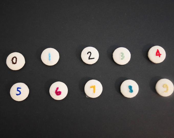 Lot de 10 aimants numérotés
