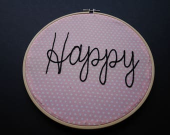 "Circle 20 cm ""Happy"" or ""Stars"" or ""Allez les Bleus"" / / circle decoration / / nursery decor / / Christmas or birthday gift"