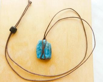 Apatite pendant, Apatite necklace, Apatite,GIFT, Natural gemstone, Handmade, rough blue apatite, Blue apatite