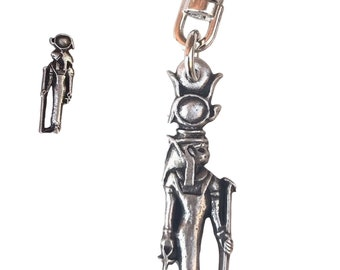 Egyptian Sekhmet Handcrafted From English Pewter Key Ring