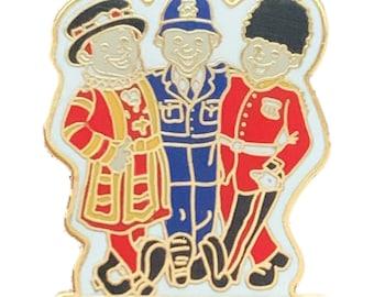 Bobby /& Guardsman Souvenir Enamel Lapel Pin Badge T1212 London Beefeater