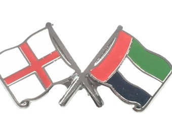 UNITED KINGDOM /& UAE UK /& UAE FRIENDSHIP Metal Lapel Pin Badge *NEW*