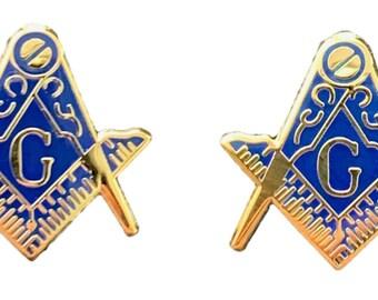 K016a Masonic Gold Gilt with G Emblem Enamel Crested Bookmark /& Gift Bag