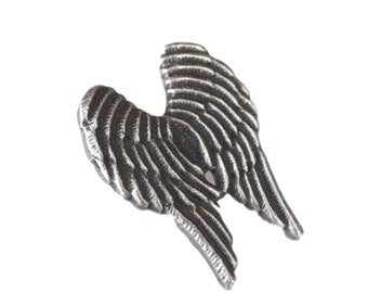 "ANGEL /""Mythical /& Angelic/"" Hand Made in UK Pewter Lapel Pin Badge"
