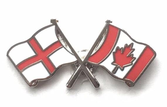 England U0026 Canada Flags Friendship Courtesy Enamel Lapel Pin