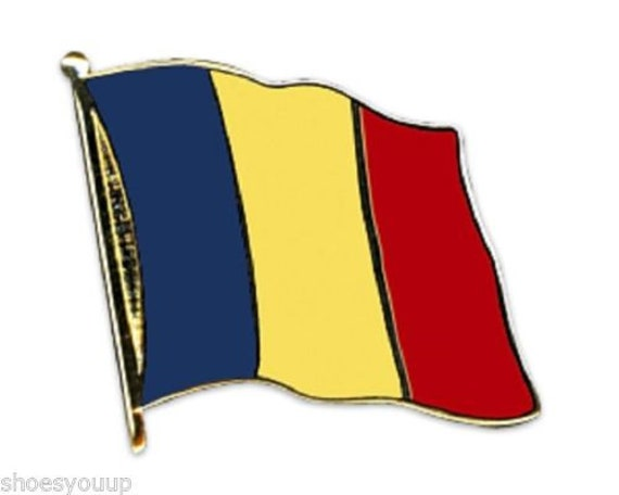 Romania National Flag Gold Plated Courtesy Enamel Lapel Pin Badge