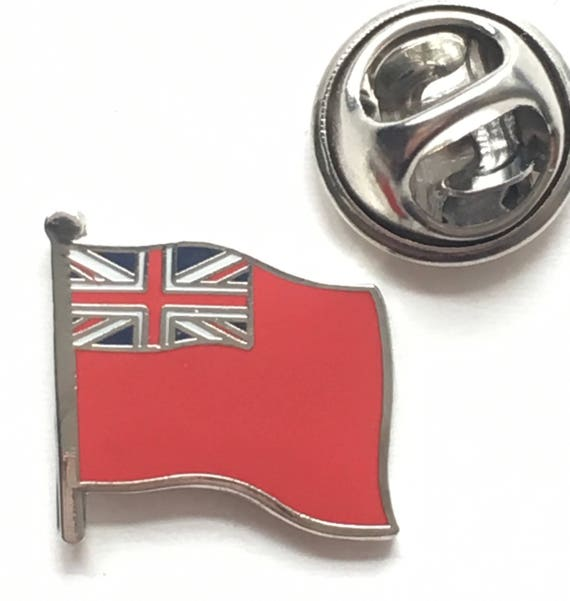 Royal Navy Red Ensign Flag Large Pin Badge MOD Approved FREE POSTAGE