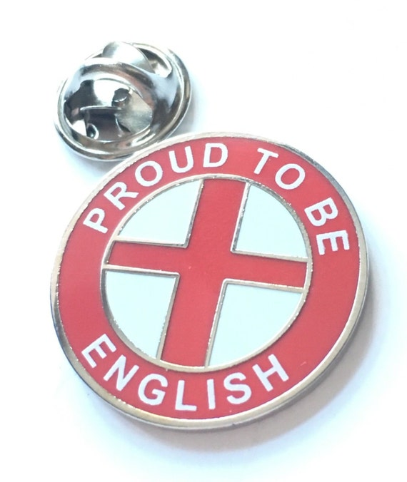 Proud To Be English in St George Cross Enamel Lapel Pin Badge T1242