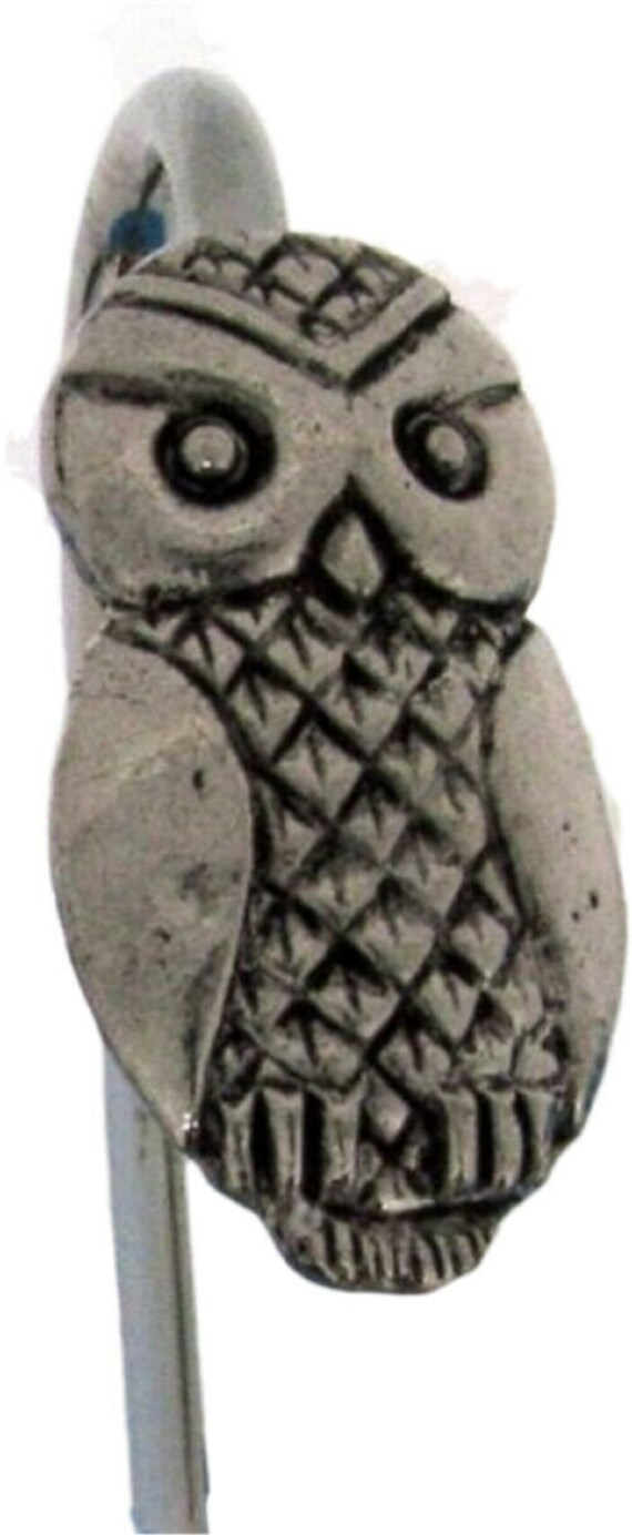 Owl Pin Badge in English Pewter h Handmade