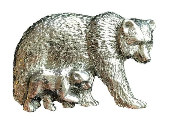 Polar Bear Handcrafted English Pewter Lapel Pin Badge