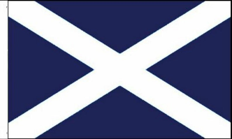 Scotland Sleeved Flags suitable for Boats 45cm x 30cm Navy Blue Pack Of Two St Andrews