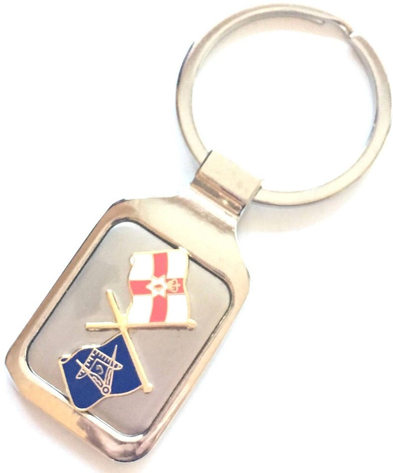 Personalised Masonic Crest /& Northern Ireland Crested Key Ring Pouch K148