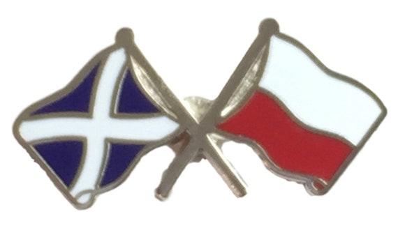 Scotland /& The Faroes Flags Friendship Courtesy  enamel  Lapel Pin Badge T1116