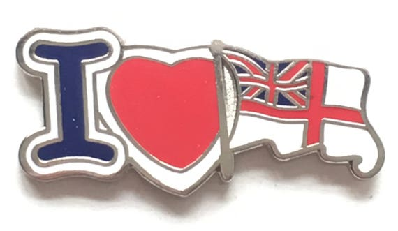 The Royal Navy White Ensign Flag MOD Approved Lapel Pin Badge