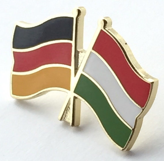Germany /& Finland Friendship Flags Gold Plated Enamel Lapel Pin Badge