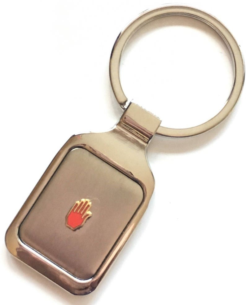 Personalised Red Hand of Ulster Crested Key Ring Pouch K020