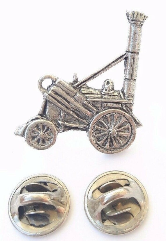 Stephenson/'s Rocket Finely Handcrafted in Solid Pewter In UK Lapel Pin Badge