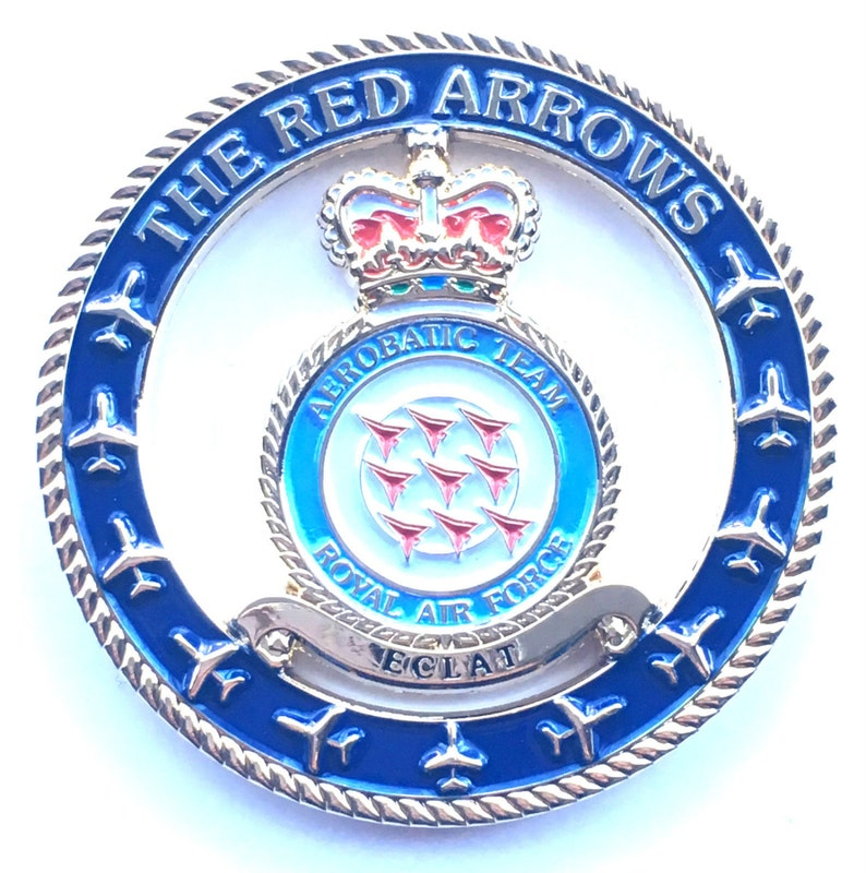 Medals Exonumia Raf Royal Air Force Red Arrows Oblong Pin Badge Official Product
