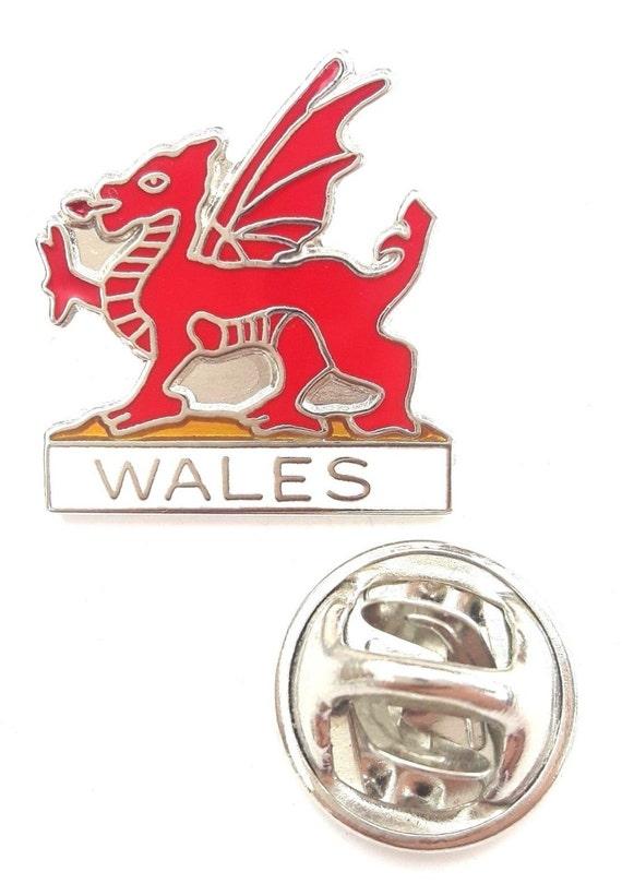 Wales Welsh Cymru Red Dragon Metal Enamel Lapel Pin Badge