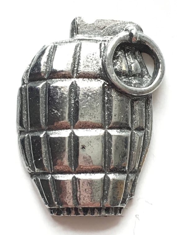 Quality British Made Product Granade Pewter Pin Badge