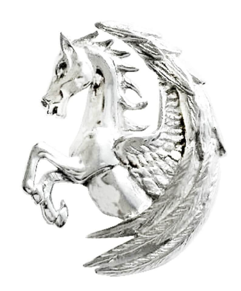 Pegasus Fortuna Sterling Silver Pendant By Anne Stokes COM14