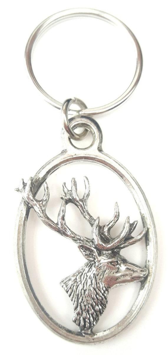 Silver Labradors Head English Pewter Keyring Handmade In England Key Ring New