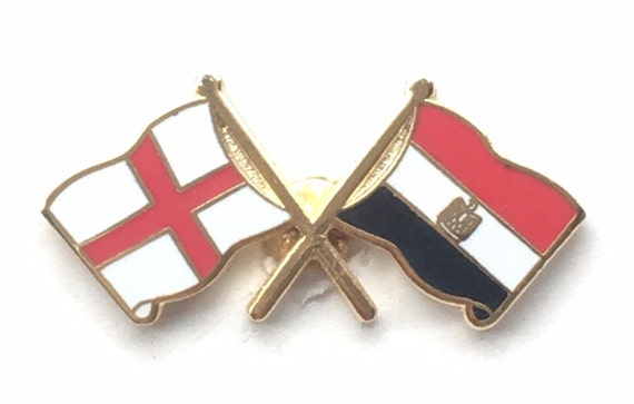 Great Britain /& Greece Flags Friendship Courtesy Enamel Lapel Pin Badge