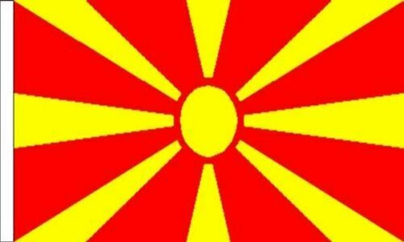 Pack Of Two Macedonia Sleeved Flags suitable for Boats 45cm x 30cm