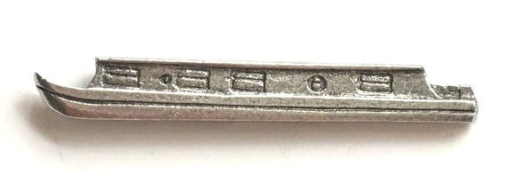 Canal Barge Pewter Lapel Pin Badge