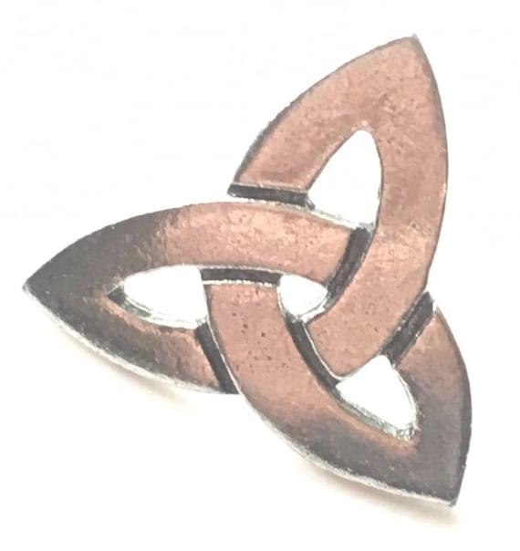 Celtic Triquetra Knot Pewter Lapel Pin Badge