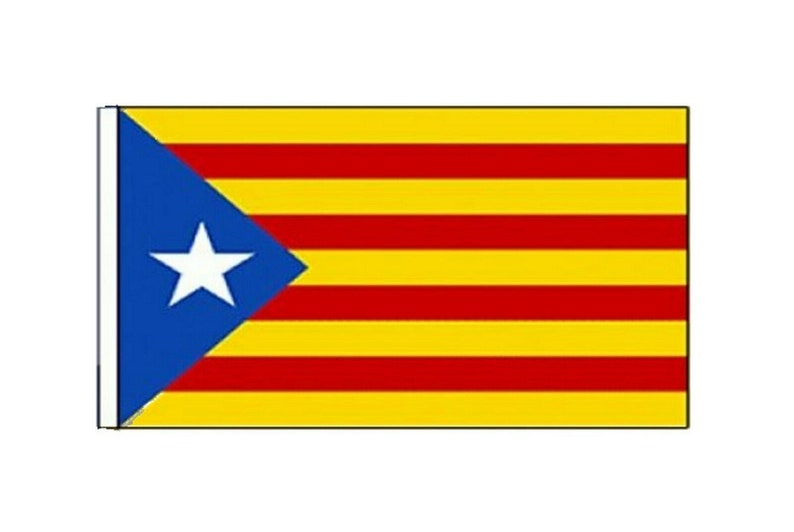 Sleeved Flags suitable for Boats 45cm x 30cm Pack Of Two Catalan Independence Estelada