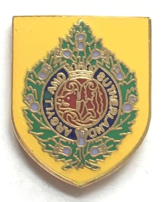 Argyll and Sutherland lapel pin badge .